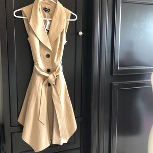 Bebe  NWT  handkerchief hem coat/shirt dress/vest